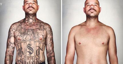 幫派混混被PS掉刺青,數10年首次看見「自己赤裸模樣」反應讓人噴淚!(影片)