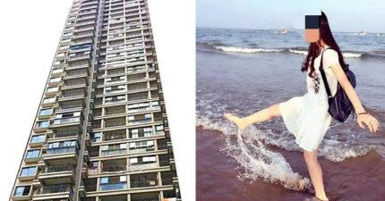 狂追正妹女同學8年!一張照片讓他暴怒「一把扛起從19樓丟下」,女當場慘死。