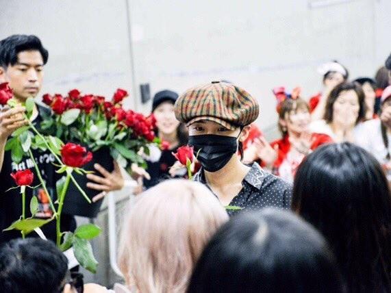 GD大阪演唱會完,在眾人面前「求婚式下跪」拿出玫瑰花...!