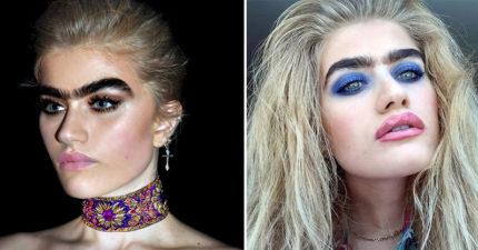 漂亮一字濃眉女模「拒絕修眉毛做自己」紅翻天,IG上的照片看出「社會非常病態」! (13張)
