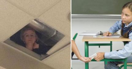 監考教師故意離開教室全學生「立馬作弊」,但一抬頭就「嚇到噴尿」63萬網友大讚分享!