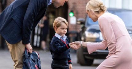 小喬治王子上學模樣超緊張超萌!但但壞消息是...他無法在學校裡交到「最要好的朋友」!