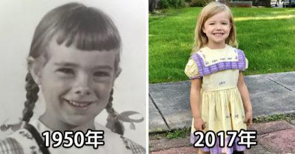 67年傳家之寶!19個家中美代女童都是穿「同一件洋裝」上幼兒園!