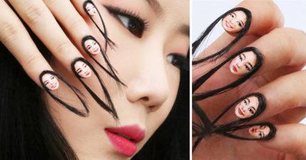 美女化妝師發明超噁「肖像指甲彩繪」,手指一動嚇到惡夢不斷! (8張)