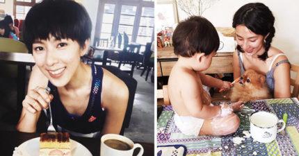 「彎道情人」林辰唏大尺度公開裸照!小孩一歲「不補票」高鐵大膽裸餵奶!