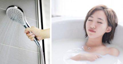 浴室內舒服嬌喘「嗯~啊~」,門外老媽嚇到狂敲門!網友:「果然老江湖很懂」