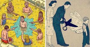 人性都怎麼了?15張反映出21世紀人性的「超震撼真相畫作」!