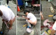 孕婦在大街上褲子一脫下「掉出嬰兒」眾人全嚇壞! (影片)