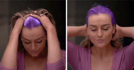 熱感應變色染髮劑「溫度改變就會出現新顏色」,效果超神奇「手一梳就變色」永遠看不膩!
