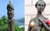 10座在各地「敏感部位」被人用手摸到發亮的銅像!治水大禹的老婆像好正!