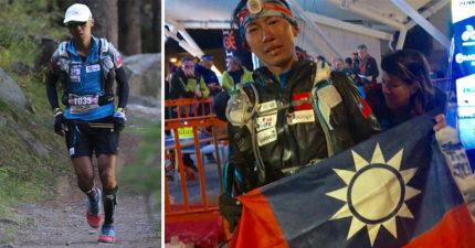 痛到每一步都在吶喊!陳彥博忍受膝傷「爬3座聖母峰」!苦撐106小時「終點舉台灣國旗」哭了!