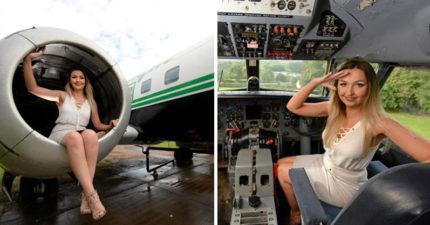 她花了120萬把1957年的飛機改造成「高級航空美容院」,客人全要「爬進去」內裝超時尚! (影片)