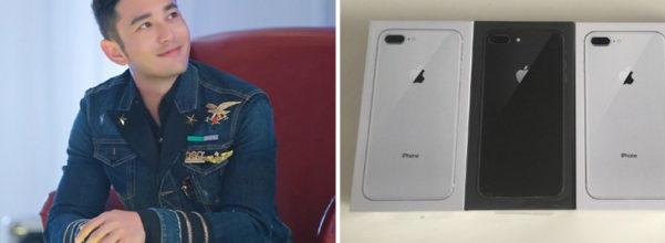 一人一支!黃曉明出手超狂「每個員工被最新iPhone 8爽砸」,網友:老闆還缺人嗎?