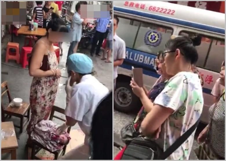 地表最狂孕婦!她菜場買菜突「定格不動」,下一秒嬰兒竟「當街落地」現代媽媽都慚愧了!(影片)
