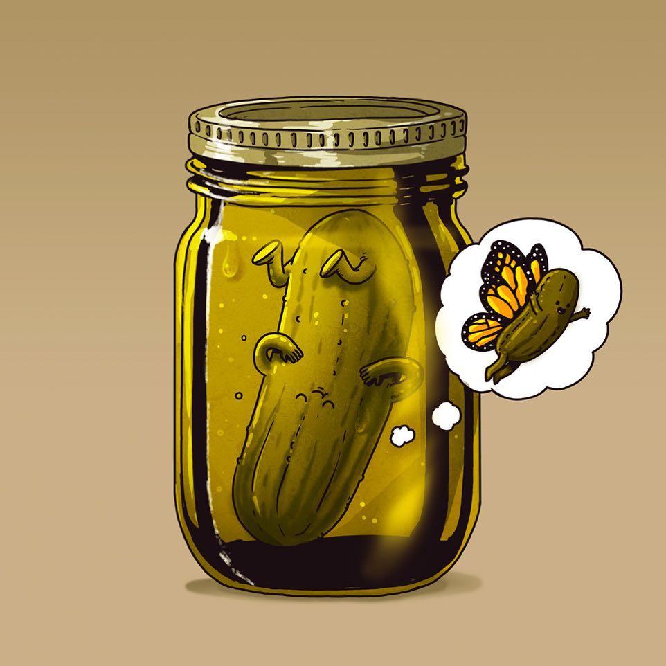 15張「如果賦予蔬果們生命」的奇異日常幻想圖,聰明人才看得懂!