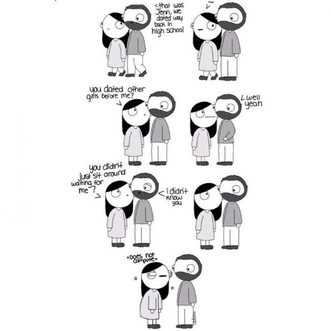 9個證明戀愛時「智商會直接減半」爆笑愛情漫畫。#8遇到前任時...