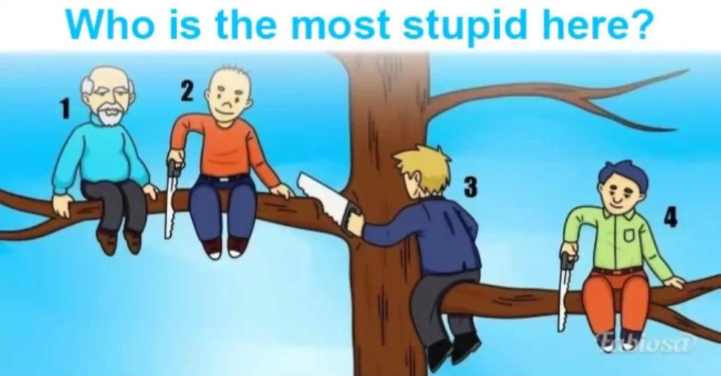 你覺得圖片中的哪個人最蠢?你的選擇會顯示出你的「真實隱藏性格」