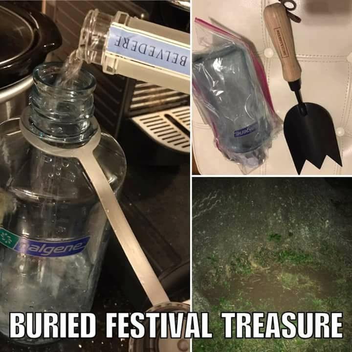 演唱會禁止攜帶飲料入場「入場時會被沒收」,他提早幾天把酒埋在土裡「等入場後才挖出來」!
