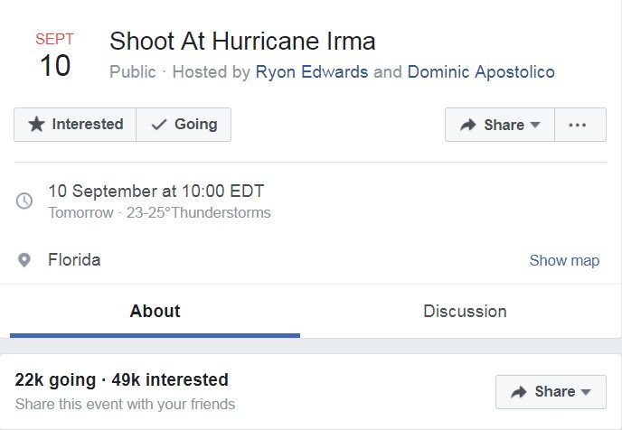 重量級颶風強勢來襲!他揪團號召槍隊「開槍射殺颶風」,未料有7萬人響應!