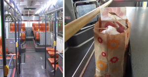 飲料打翻整公車...霸氣高中妹不嫌髒「秒蹲地清理全車」,人妻抱孩子「跪地感謝」!