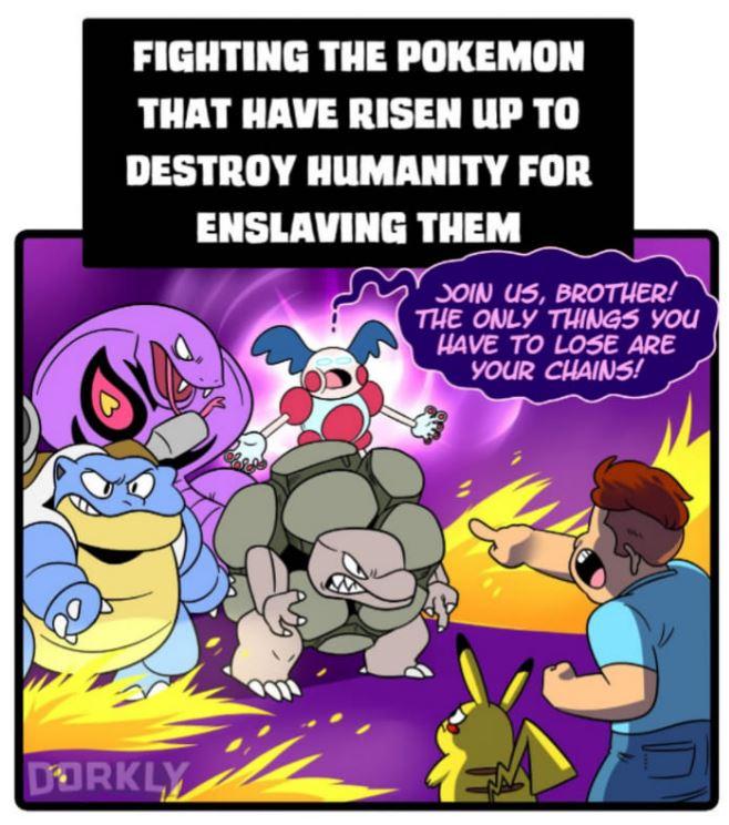 5張「如果寶可夢出現在人類世界」的超殘忍真實情況!