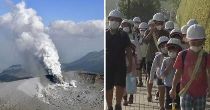 時隔6年再噴發!日本「火山爆發」警戒升級,城鎮都覆蓋了一層火山灰!