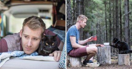 男子辞掉10年工作「带着爱猫旅游全澳洲」,透过「猫咪的眼睛」重新看这世界!