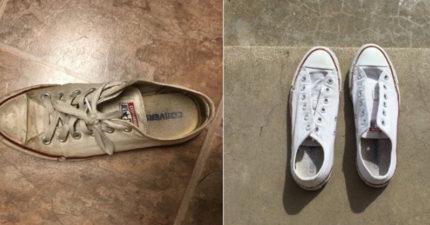 她分享超強絕招,馬上讓你的白鞋煥然一新「乾淨到發亮」網路爆紅!網友:連人類的罪孽都能洗掉