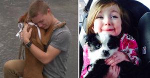 30張溫暖到讓你邊笑邊流淚的「狗狗跟主人第一次見面」照片!再次找到屬於自己的家時的喜悅...