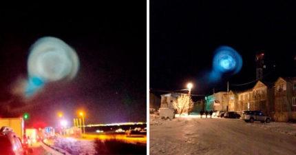 史上未見過的光暈!疑似「外星人通往地球的入口」,原來是俄羅斯搞的鬼!(影片)