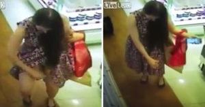 她逛街狂灑香水試噴,意猶未盡「當眾掀裙噴鮑」...「好像聞到味道了!」(影片)