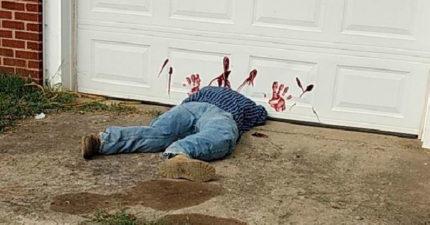 屋主慘被「腰斬」!車庫前血跡斑斑、血手印滿,警方:民眾請不要報案