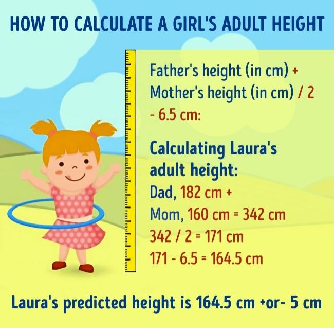 簡單的公式來預測「小孩將來的身高」,如果將來比爸媽高太多就要擔心了