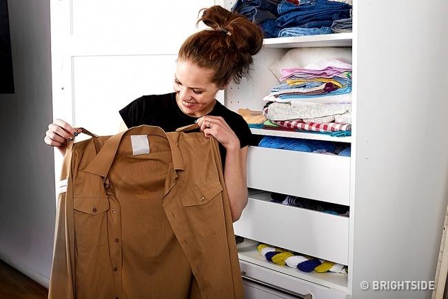 她挑戰連續10天「用老公的衣服來穿搭」去上班,效果比穿自己的衣服還要好!
