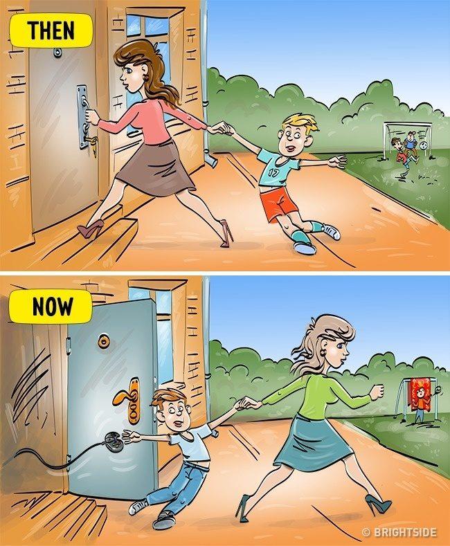 14張證明過去美好已經過去了的「以前 VS 現在小孩」超有感差異對比圖。