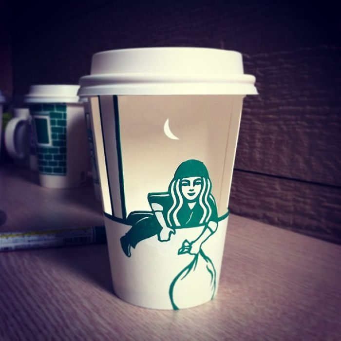 30張讓大家看到「星巴克人魚私生活」的咖啡杯爆料作品!