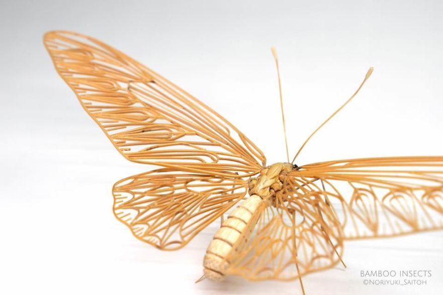 日本雕刻師用竹子手工打造「1:1超逼真精緻昆蟲」!近看翅膀全身雞皮疙瘩!
