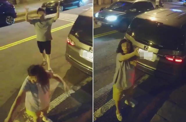 女兒嚇壞哭喊對不起!優良駕駛「紅線違停」被警衛慰問爆氣衝上質問 (影片)