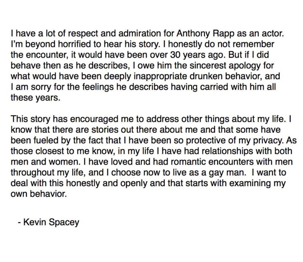 他對我「公主抱」...凱文史貝西驚爆31年前「性騷擾未成年演員」,公開道歉順勢公開出櫃但《紙牌屋》GG了...