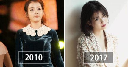 10張看出IU在6年內從「國民妹妹變身為國民妖精」的女大十八變照片!