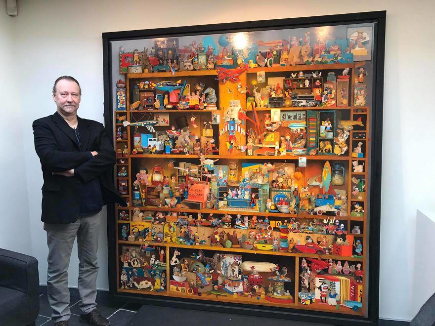 他「用盡生命花2年半」完成這幅2公尺創作,近看「讓你走進另個空間」!