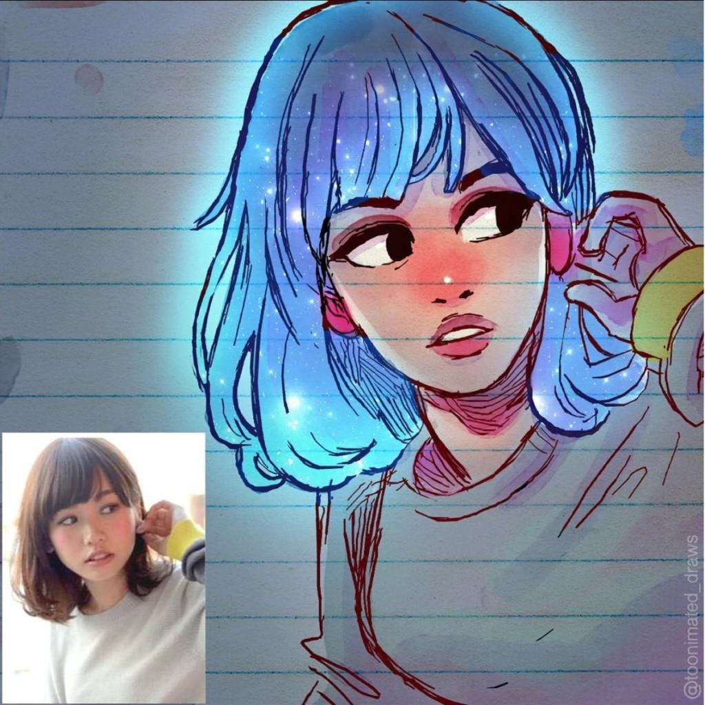 30張由真人超正妹「轉變而成」的超可愛2D動畫人物!