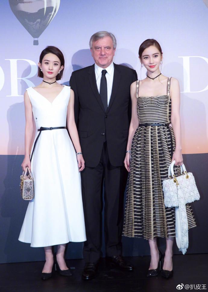 Dior發表會上仙女下凡!Angelababy、趙麗穎首度合體...再掀「雙穎」爭鬥!