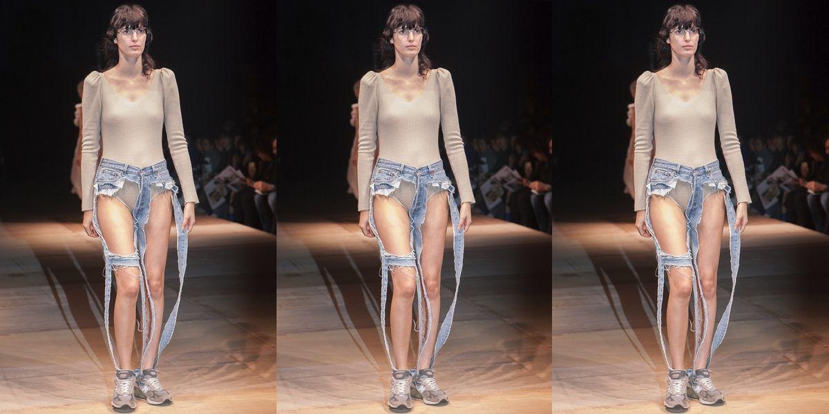 女模「下半身幾乎沒有布」登場引發國際關注!「丁字牛仔褲」2018年開賣,根本造福男性!