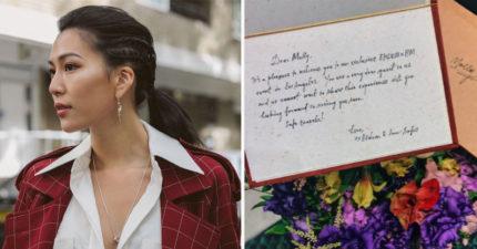 第一位台灣代表!莫莉收H&M總部「親筆邀請函」超激動,透露將有「讓她跪地大哭的合作」!