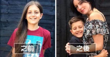 媽媽一直不知為什麼11歲兒子從小到大都不肯剪長髮,「留到膝蓋」剪下募款拯救化療孩童!