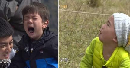 《爸爸5》最慘彩蛋曝光!Jasper和嗯哼「被繩子勒到淚崩哭喊」,陳小春卻「一點都不心痛」節目組被噴爆!