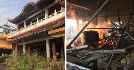 基隆鬼廟塞滿「未開光佛像」,卻在白天突然「起鬼火燃燒廢木材」居民嚇瘋求拆建!