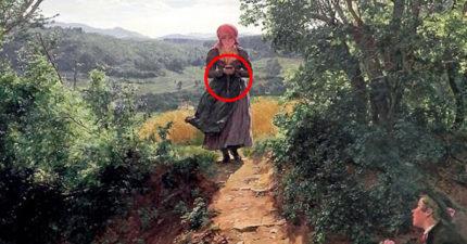 時空再次穿越!19世紀油畫出現「拿著iPhone的少女」,「低頭走路」和現代人沒兩樣!