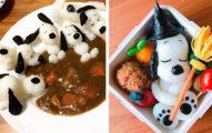史努比控要瘋了!日本媽媽手作「超Q療癒系史努比美味料理」泡咖哩浴讓你捨不得動口!(20張)